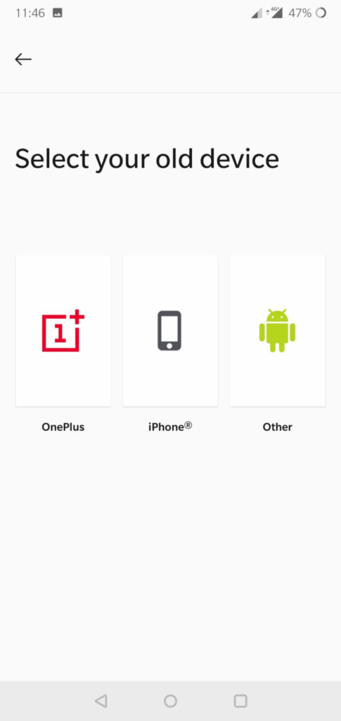 OnePlus Switch - Copy Data Between iPhone and Android