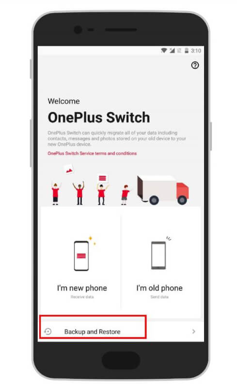 Backup OnePlus Phone Via OnePlus Switch