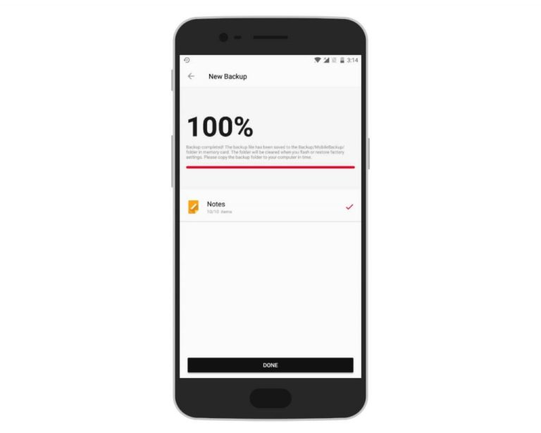 OnepPlus Phone Backup Completed With Using OnePlus Switch
