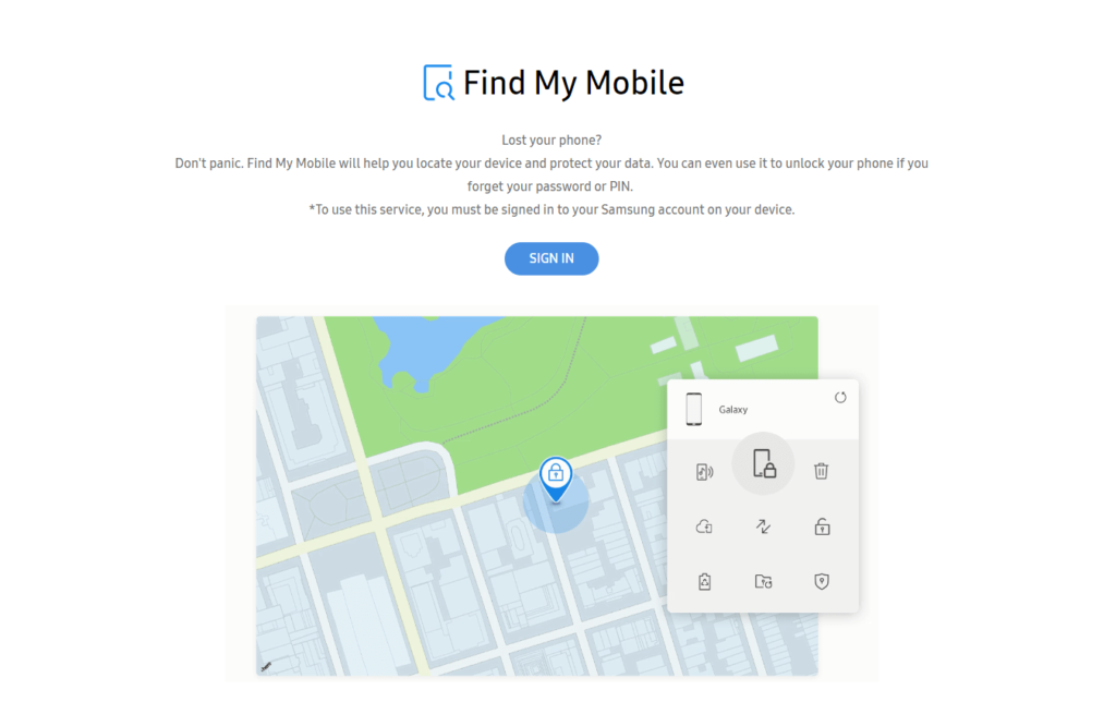 Remove Samsung Phone Screen Lock Via Find My Mobile