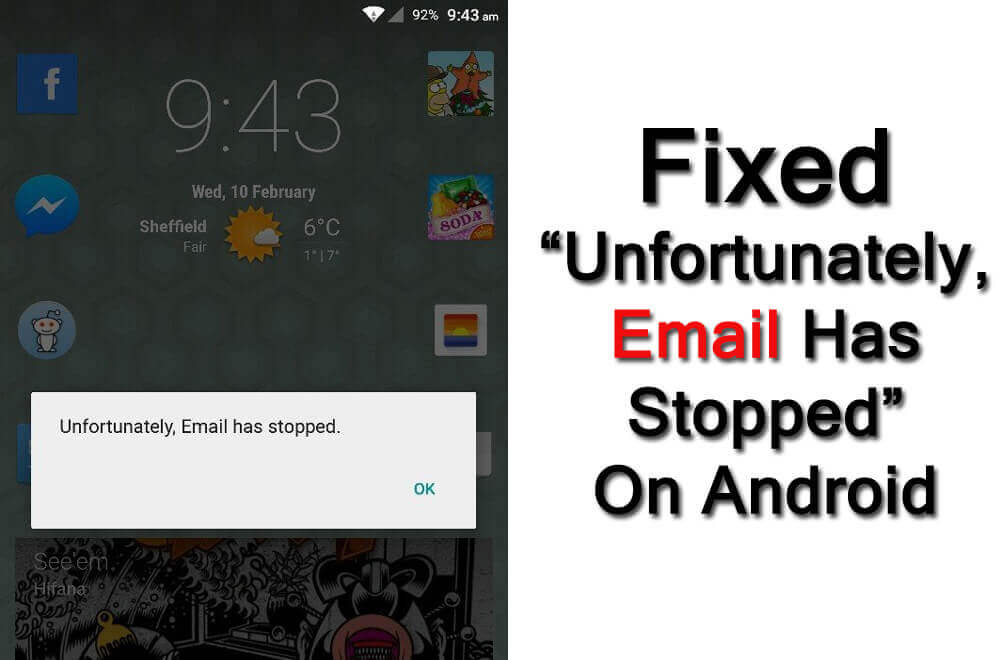 Solved Unfortunately Email Has Stopped On Android
