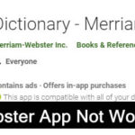 How To Fix Merriam-Webster App Not Working On Android