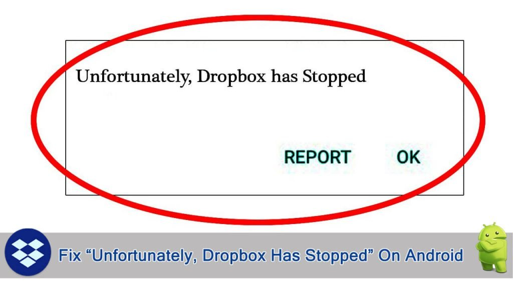 Fixed Unfortunately Dropbox Has Stopped On Android