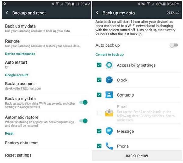 Transfer Data To Samsung Via Google Backup