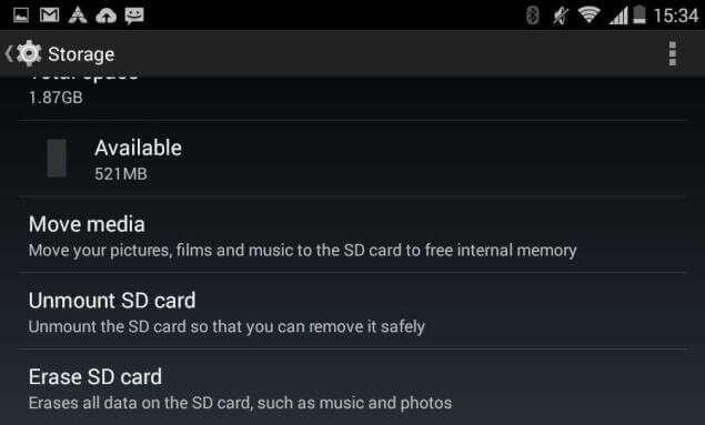 Erase Android SD Card