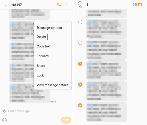 Permanently Delete Texts from A Conversation On Samsung